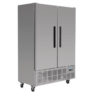 Polar Slimline Stainless Steel Double Freezer - 70x134x (h) 200cm - 960 Liter