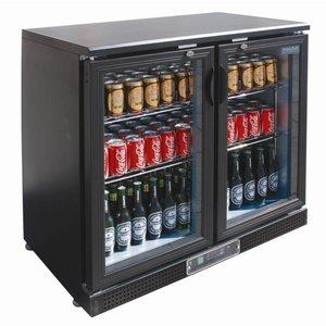 Polar Low Bar Kühlschrank 2 Türen - 168 330ml-Flaschen - 218 Liter - 920 (b) x520 (d) X870 (H) mm