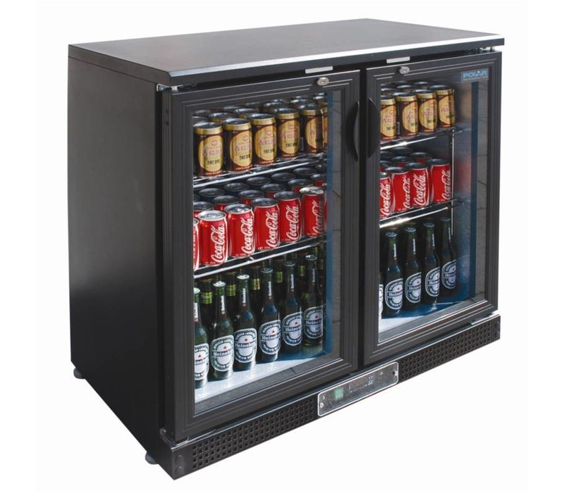 Polar Low Bar Refrigerator 2 Doors - 168 330ml bottles - 218 liters - 920 (b) x520 (d) x870 (H) mm
