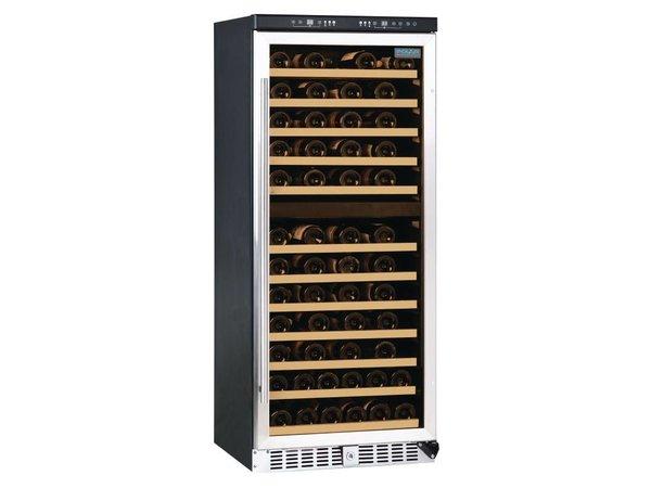 Polar Wein Kühlschrank Catering mit zwei Zonen - 84 Bottles - Blaue LED-Beleuchtung - 595x570x (H) 1445mm