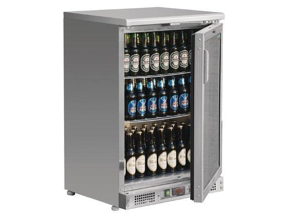 Polar Bar Fridge Single Swing door with stainless steel - 104 330ml bottles - 140 liters - 600x520x (H) 920mm