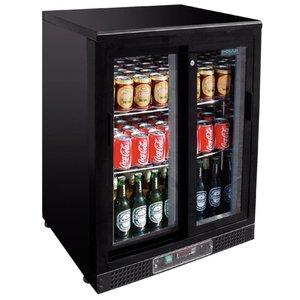 Polar Bar Kühlschrank mit Schiebetüren - 104 330ml-Flaschen - 140 Liter - 600x540x (h) 920mm