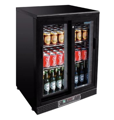 Polar Bar fridge with sliding doors - 104 330ml bottles - 140 liters - 600x540x (H) 920mm