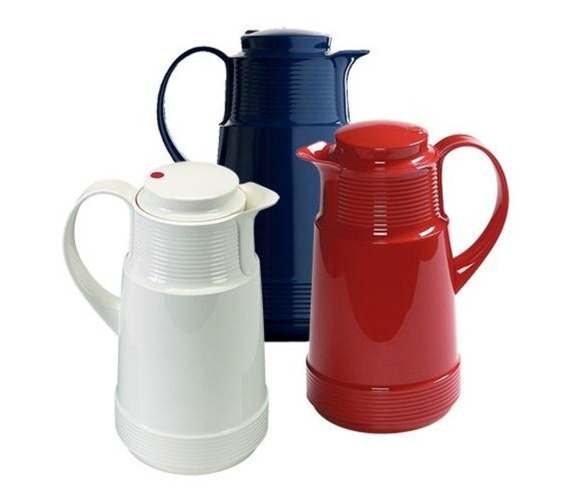 XXLselect Isoleerkan - Kunststof - Glazen Binnenpot - 1 liter - Rood