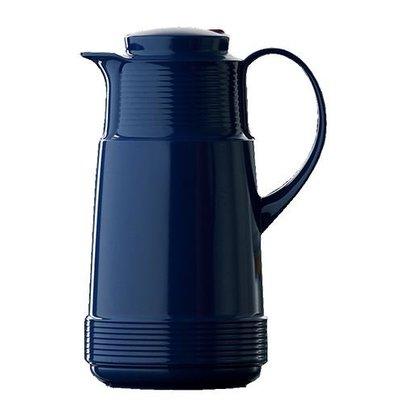 XXLselect Isoleerkan - Kunststof - Glazen Binnenpot - 1 liter - Blauw