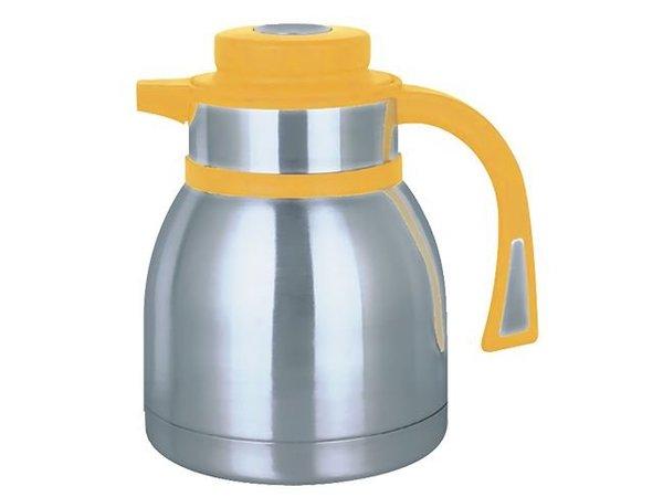 XXLselect Isoleerkan - RVS - drukknopsluiting - 1,5 liter - geel