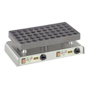 XXLselect Poffertjes Bakplaat - voor 50 Poffertjes - 470x(h)270mm - 2.2KW