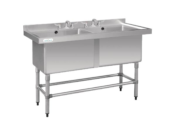 Vogue Sink with Double Sink - 1410x600x900 (h) - Laundry Extra Deep 400mm