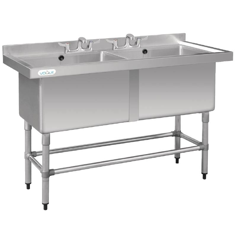 Vogue Sink with Double Sink - 1410x600x900 (h) - Laundry Extra Deep ...