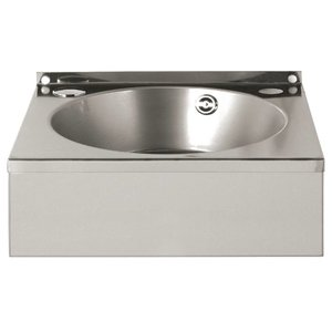 Vogue Stainless Steel Hand sink | Equipped with towel rack | 3850x330x (H) 1640 mm