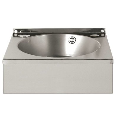 Vogue Stainless Steel Hand sink | Equipped with towel rack | 384x138x (H) 333 mm