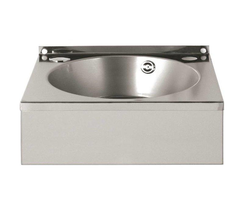 Vogue RVS Handwasbak | Voorzien van Handdoekdrager | 384x138x(H)333 mm