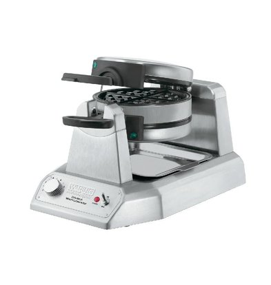 XXLselect Double Waffle Maker Waring - Round Model - Anti Glueboards - 265x432x (H) 241mm - 1400W