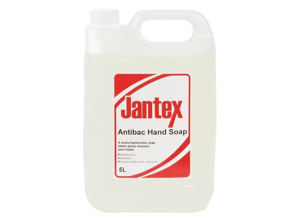 XXLselect Jantex antibacterial hand soap - 5 liters - 190x130x (H) 275mm