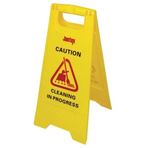 """XXLselect Warning sign """"Cleaning"""""""