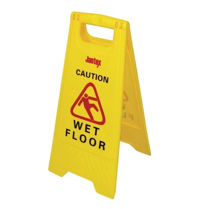 "Jantex Warning sign Wet Floor sign ""Caution Wet Floor"""