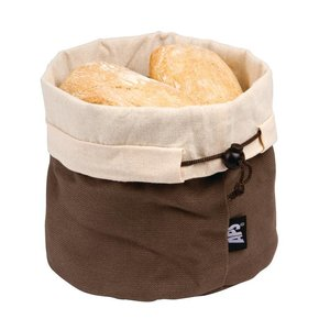 XXLselect Cotton Bread Basket - Beige / Brown - Ø200x (h) 235mm