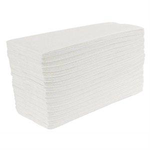 XXLselect Jantex weiß-C gefaltete Handtücher, 2-Schicht (Box 15)
