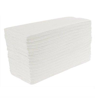 XXLselect Jantex white-C Folded towels, 2-layer (Box 24)