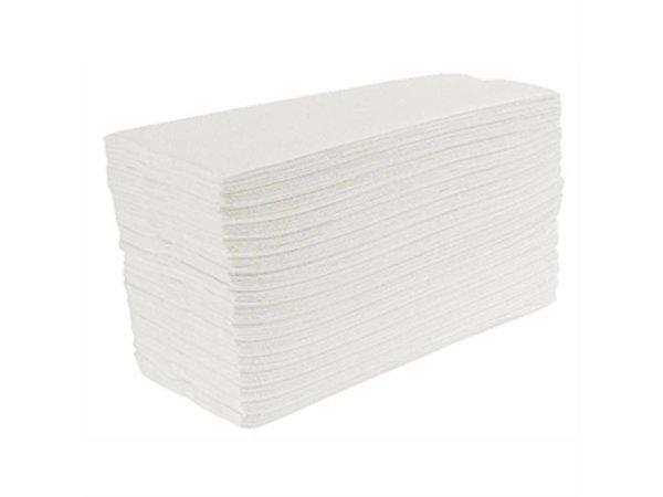 XXLselect Jantex wit-C Gevouwen handdoeken, 2-laags (Box 24)