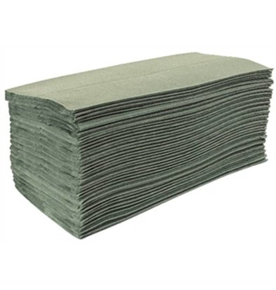 XXLselect Jantex green Z-Folded towels, one ply (Box 15)