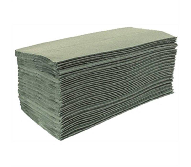 XXLselect Jantex groen Z-Gevouwen handdoeken, 1-laags (Box 15)
