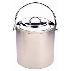 XXLselect Stainless steel ice bucket with lid | Jacketed | 2 Liter | Ø180 (x (H) 180mm