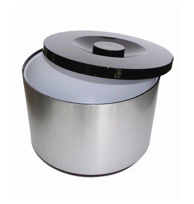 XXLselect Eiskübel XXL | Aluminium | Abnehmbare Tropfschale | 10 Liter | Ø292 (H) 217mm