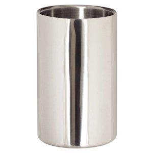 XXLselect Wine cooler / champagne cooler - Polished stainless steel - Ø12cm x 19.5 (h) cm