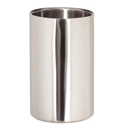 XXLselect Weinkühler / Sektkühler - Edelstahl poliert - Ø12cm x 19,5 (H) cm