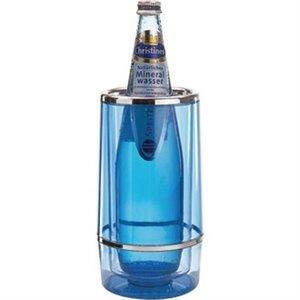 XXLselect Wine Cooler Ice Blue - Round with Chrome Rim - Ø10cm x 23 (h) cm - GIFT BOX