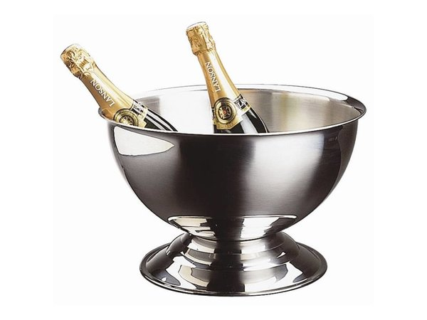 XXLselect Stainless Champagne Bowl - Without Handles - 13.5 liter - Ø37cm x 24 (H) cm