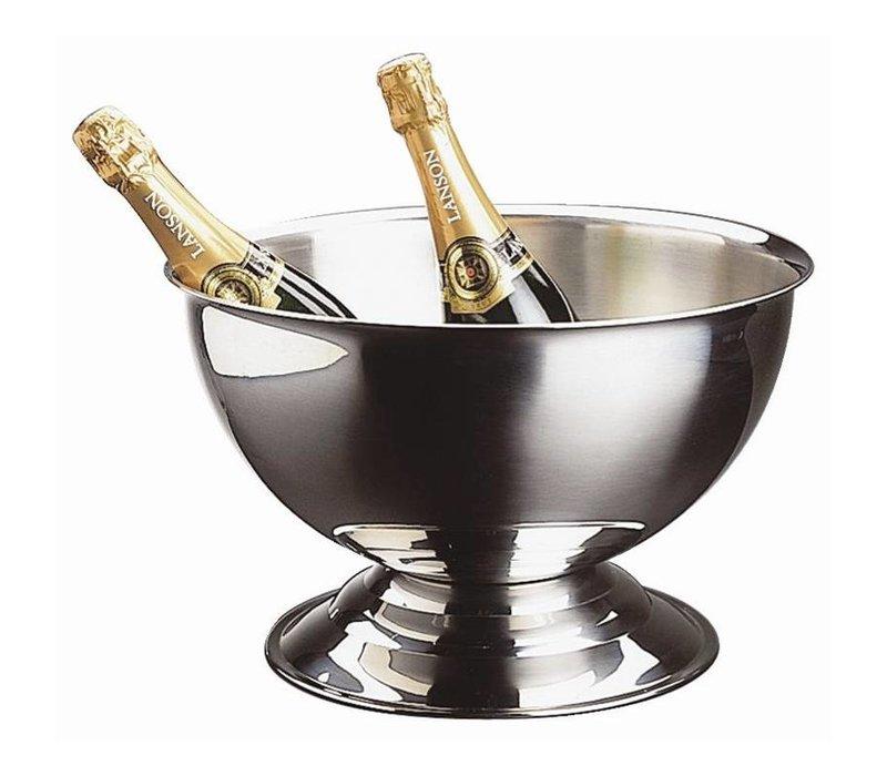 XXLselect RVS Champagne Bowl - Zonder Handgrepen - 13,5 liter Inhoud - Ø37cm x 24(h)cm