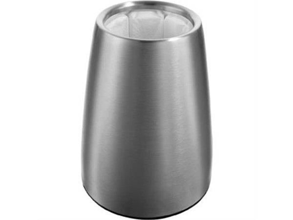 XXLselect Vacu Vin Weinkühler aus Edelstahl - mit elegantem Design - Abnehmbarer Kühlkörper - Kühlt in 5 Minuten - Ø15,5cm x 23 (H) cm