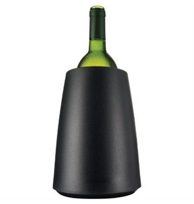 Vacu-vin Vacu Vin Weinkühler Matte Black - Kühlt in 5 Minuten -Ø15,5cm x 23 (H) cm