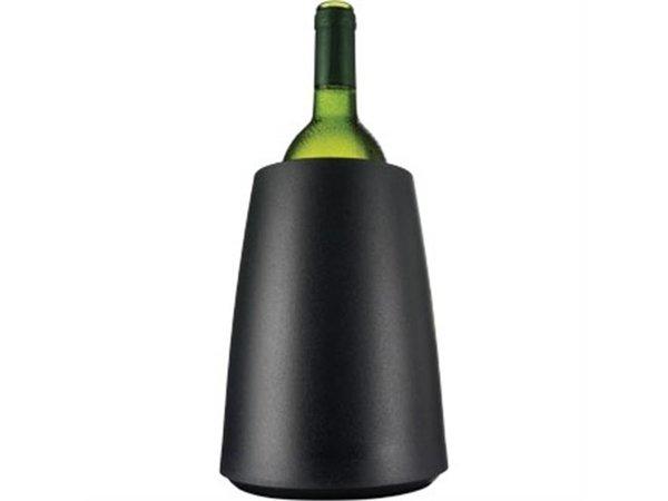 XXLselect Vacu Vin Weinkühler Matte Black - Kühlt in 5 Minuten -Ø15,5cm x 23 (H) cm