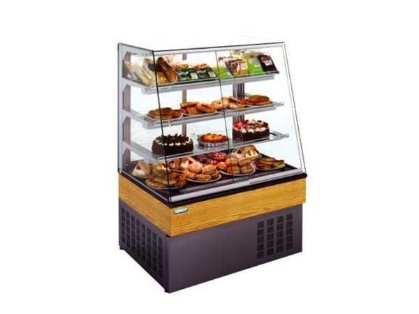 XXLselect Pastry Display with curved glass 97x75x133cm