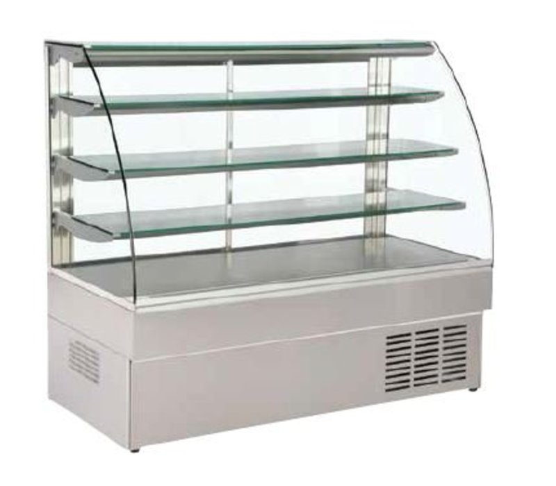 XXLselect Gebäck-Display mit gebogenem Glas 97x75x133cm