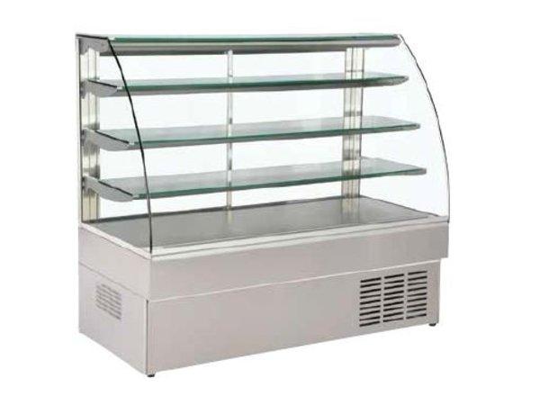 XXLselect Gebäck-Display mit gebogenem Glas - 5th Floor - 147x75x133 (h) cm