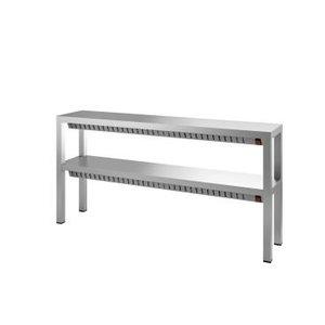 XXLselect Dubbele Warmtebrug / Verwarmde Etagere - 4 x 0,35 kW - 1200x300x(H)650mm