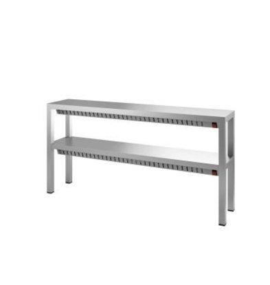 Combisteel Dubbele Warmtebrug / Verwarmde Etagere - 4 x 0,35 kW - 1200x300x(H)650mm