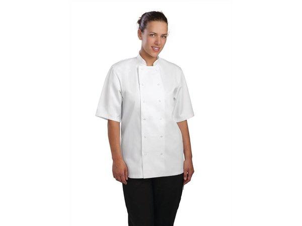 XXLselect Koksbuis Vegas met Drukknopen - Korte Mouwen - Beschikbaar in 6 Maten - Unisex - Wit