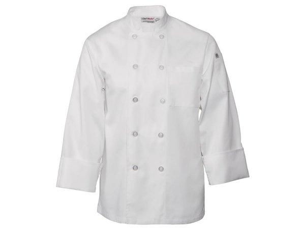 XXLselect Chef Works Chefs Buis Le Mans - Lange Ärmel - Erhältlich in 6 Größen - Unisex - White