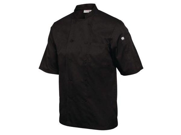XXLselect Chef Works Koksbuis Montreal - Korte Mouwen - Beschikbaar in 6 maten - Zwart