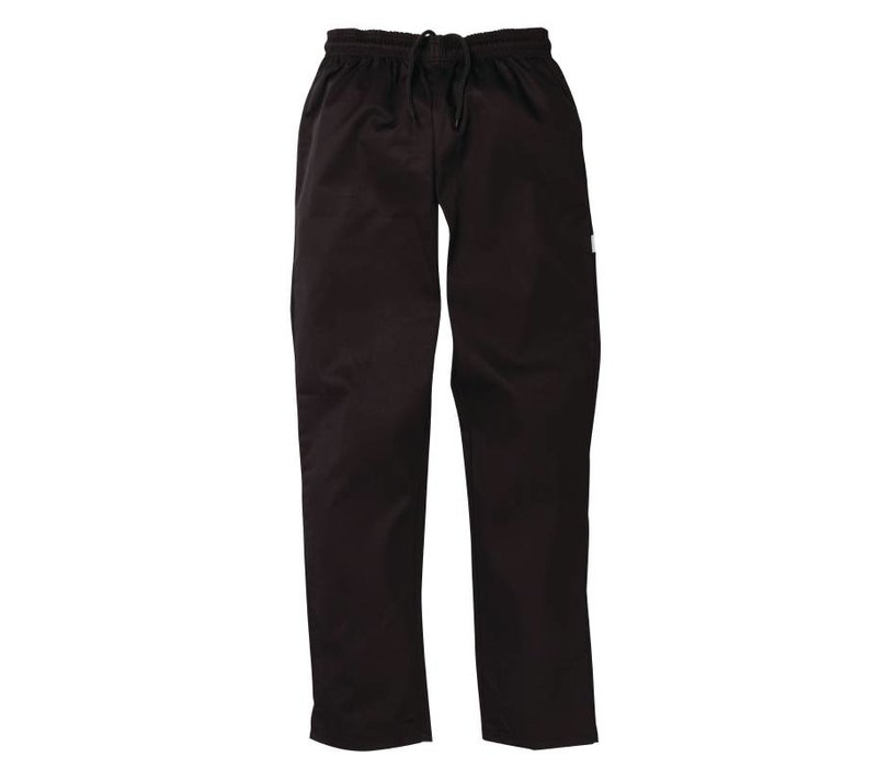 XXLselect Black Chefs Trousers Vegas - Polyester / Cotton - Available in 6 sizes - Unisex - XXL OFFER!