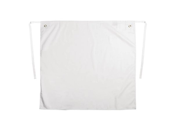 XXLselect Extra Long Catering Sloof - Polyester / Cotton with brass eyelets - 90x90cm - White - Unisex