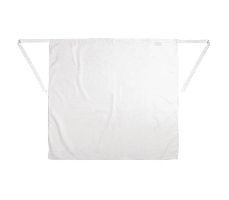 XXLselect Whites Horeca Sloof - Vaste band - 75 x 90 cm - Wit - Unisex