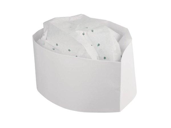 XXLselect Einweg Butcher Kappe - 100 Stück - Paper - Weiß - Universal - Unisex