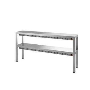 XXLselect Dubbele Warmtebrug / Verwarmde Etagere - 4 x 0,35 kW - 1400x300x(H)650mm