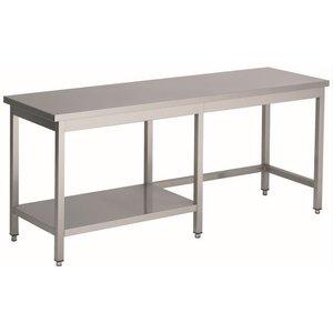 XXLselect Welded Stainless Steel Workbench + 1/2 Bottom Shelf | HEAVY DUTY | 1000 (b) x700 (d) mm | CHOICE OF 20 WIDTHS